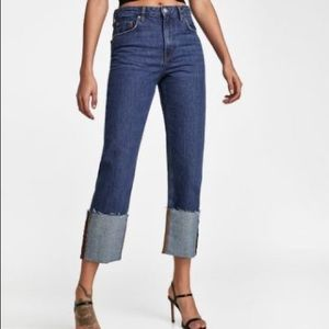 Zara Woman's Premium Jean The Folded Up Straight